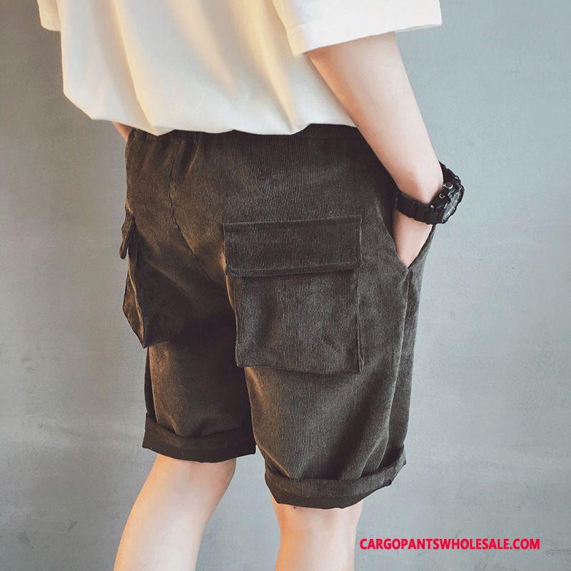 Cargo Shorts Mænd Khaki Cyan Shorts Vintage Sommer Cargo Lige