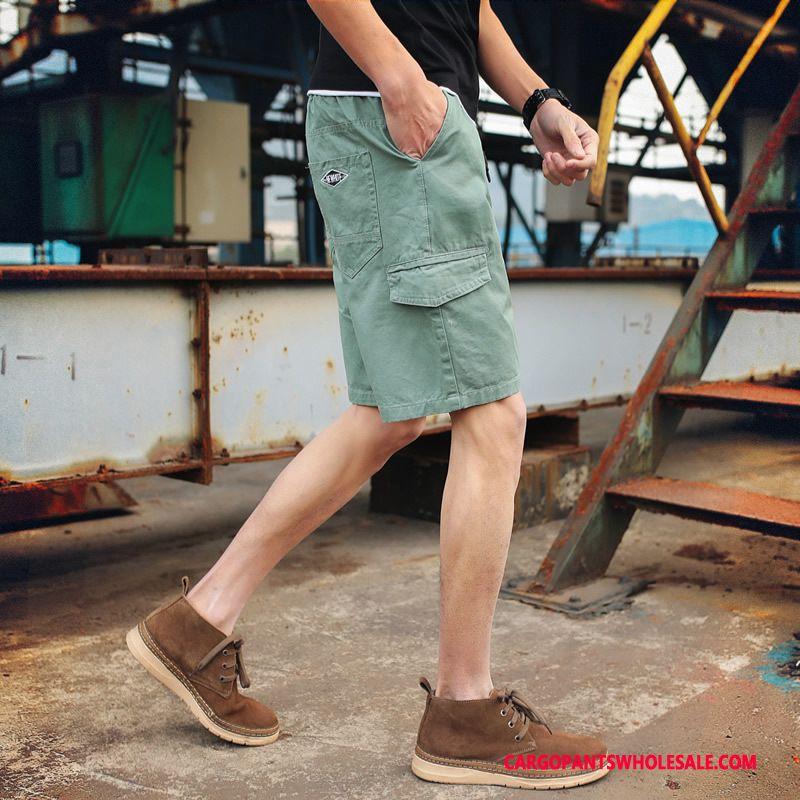 Cargo Shorts Mænd Khaki Cyan Store Størrelser Cargo Udendørs Mellem Fritids