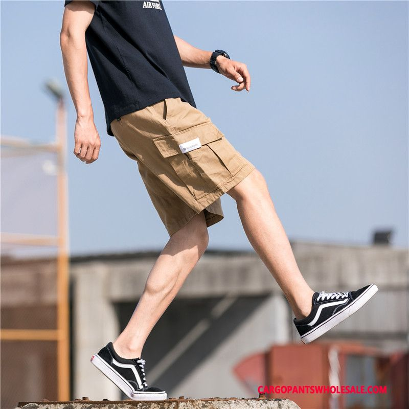 Cargo Shorts Male Khaki Hip Hop Super Men Loose Pants Shorts