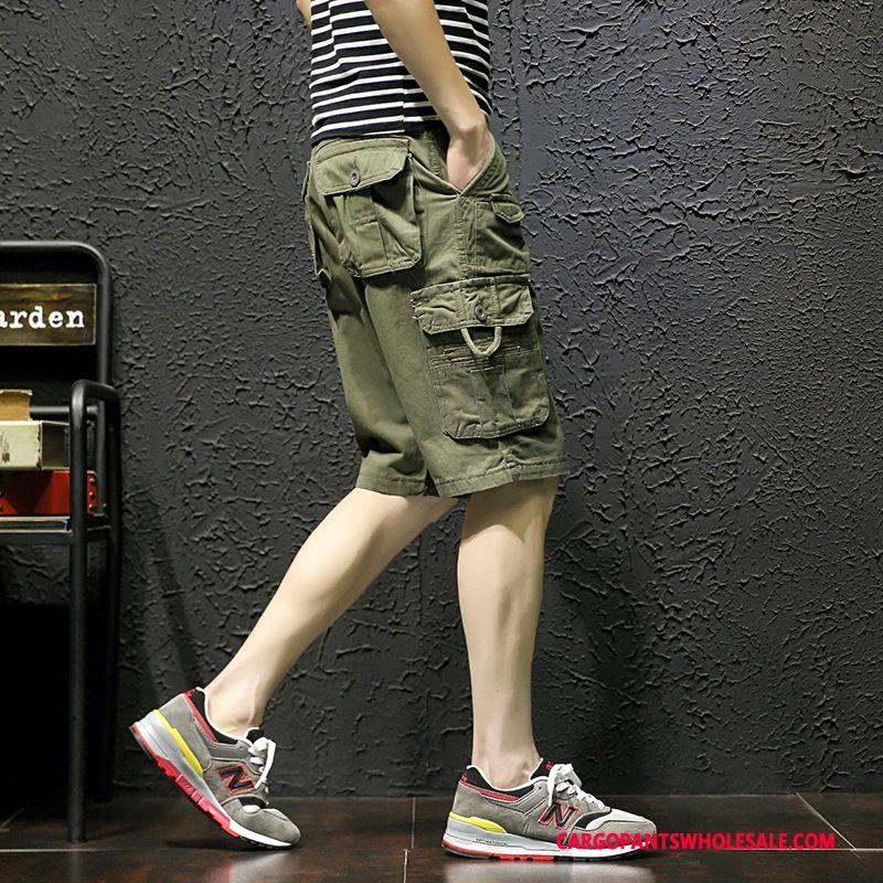 Cargo Shorts Male Khaki Large Size Tide Men The New Fashion Summer