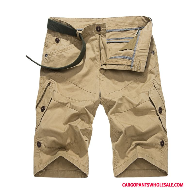 Cargo Shorts Male Khaki Loose Casual Pants Men Europe Shorts Summer