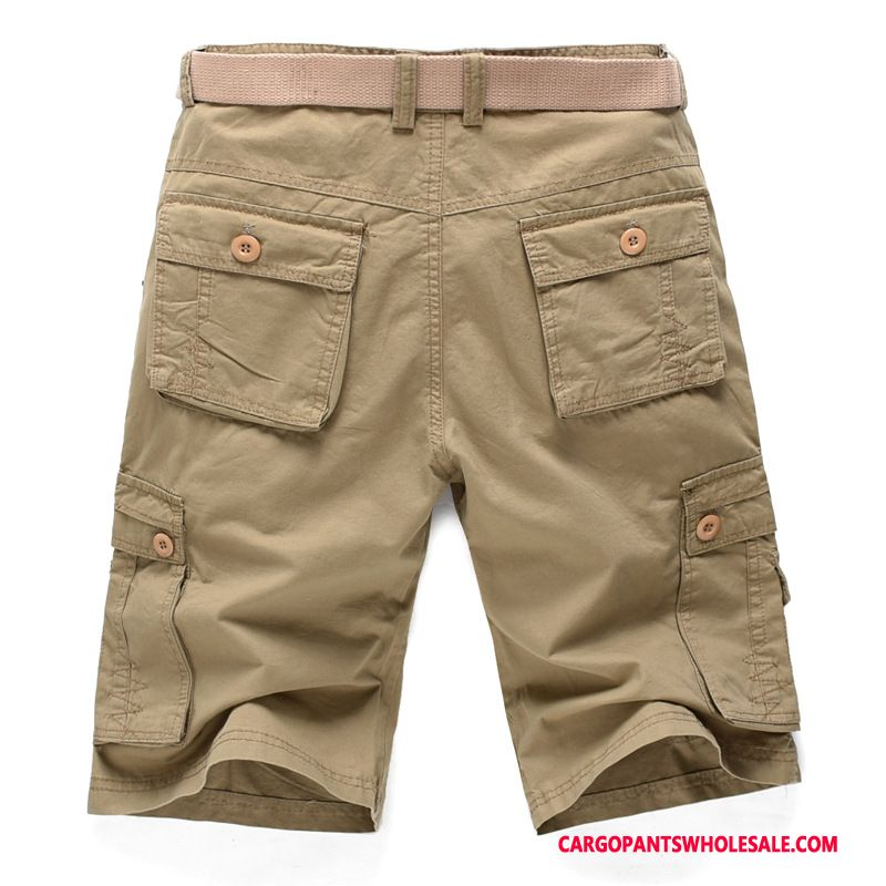 Cargo Shorts Male Khaki Loose Pants Men Casual Pants Shorts Summer