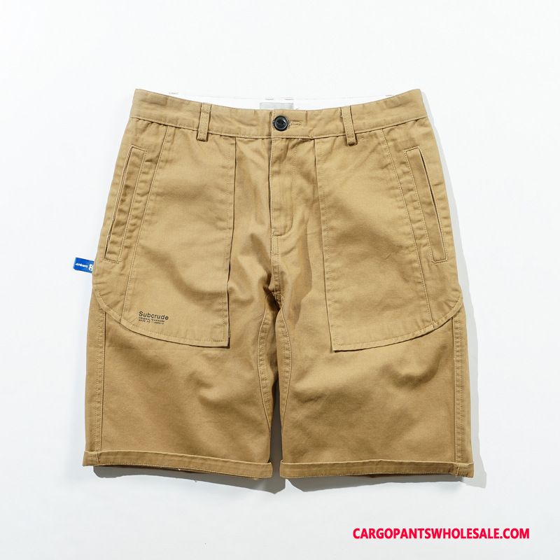 Cargo Shorts Mænd Khaki Ny Ren Herre Bukser Original Trendy