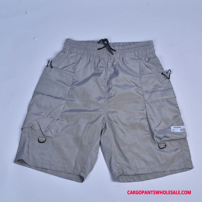 Cargo Shorts Male Purple Summer Breathable Cargo Military Shorts