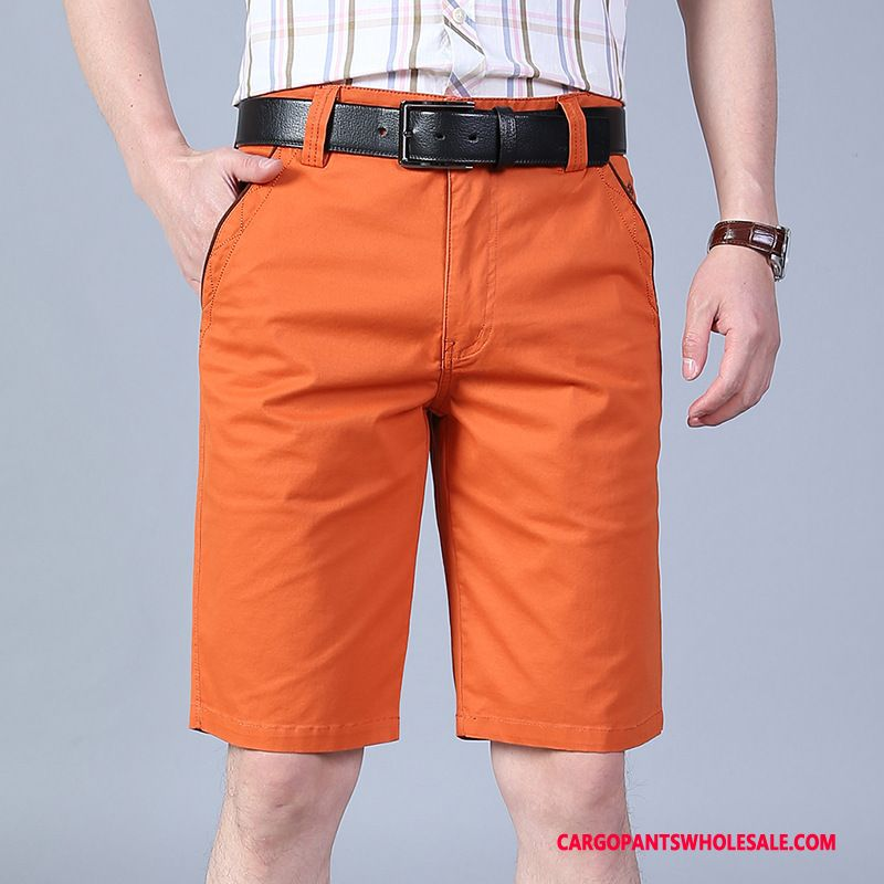 Cargo Shorts Male Red Cargo Pants Thin Section Summer Beach Large Size