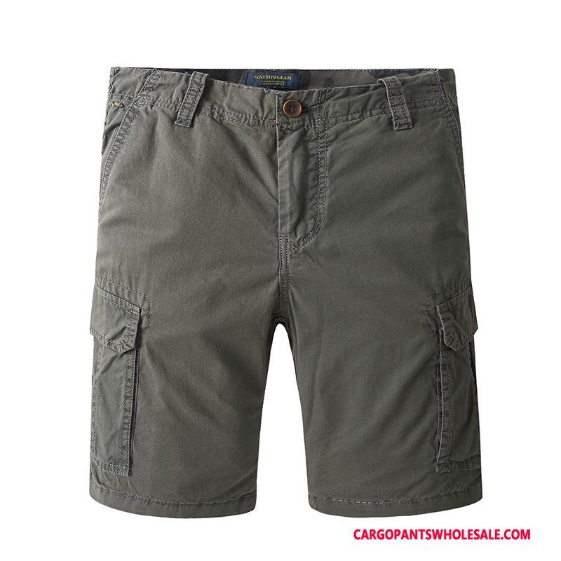Cargo Shorts Mænd Rød Bukser Salg Herre Trend Shorts Brede