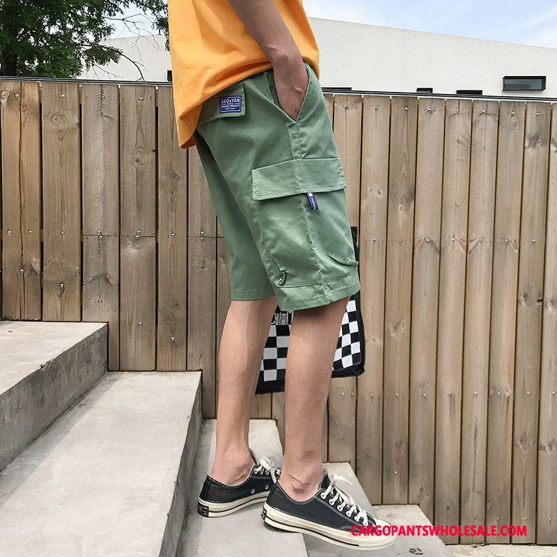 Cargo Shorts Mænd Hvid Brede Cargo Bukser Salg Flere Lommer Bukser