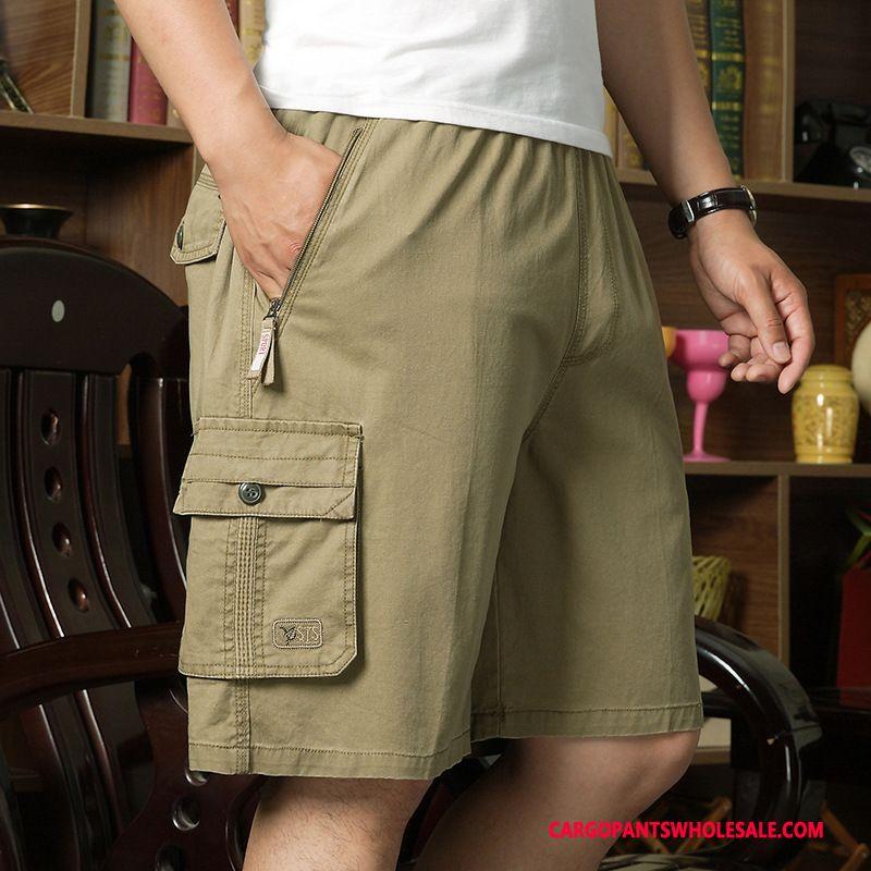 Cargo Shorts Herre Army Grøn Sommer Flere Lommer Shorts Sport Bukser