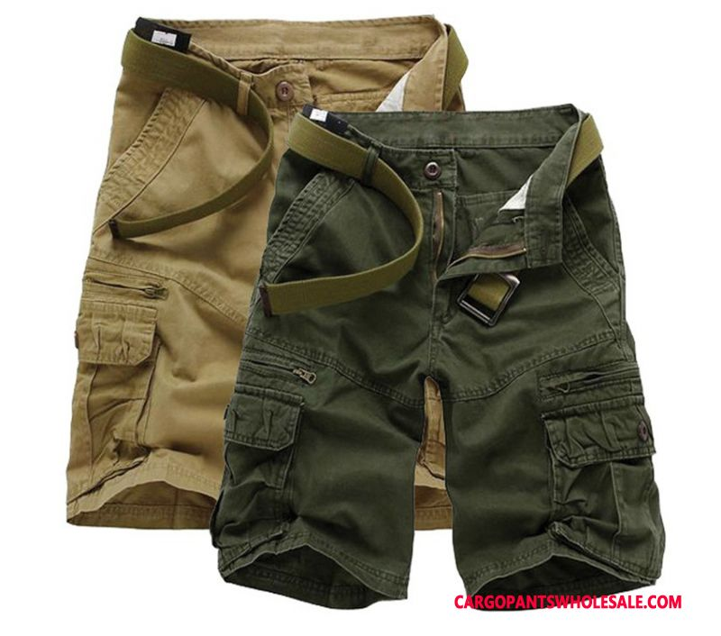 Cargo Shorts Men Army Green Large Size Europe Pants Cotton Super
