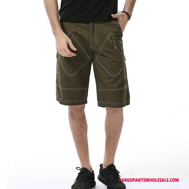Cargo Shorts Herre Army Grøn Bukser Cargo Store Størrelser Mellem Shorts