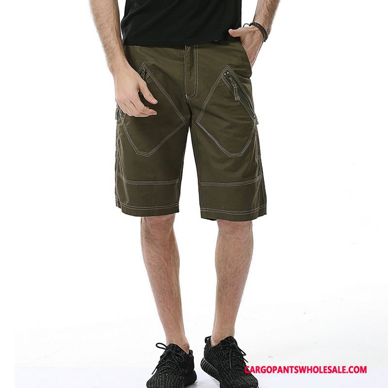 Cargo Shorts Men Army Green Multi-pocket Cotton Medium Large Size Cargo
