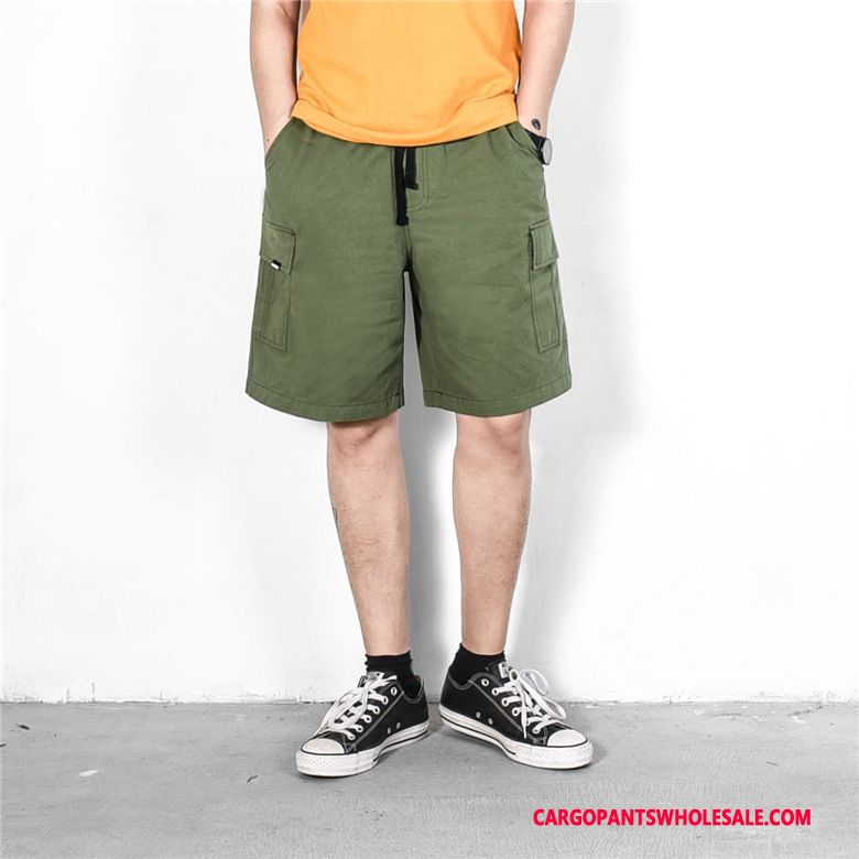 Cargo Shorts Men Army Green Short Paragraph Casual Pants Cargo Summer Multi-pocket