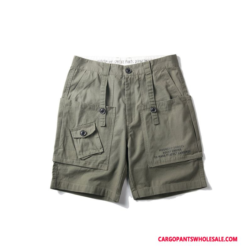 Cargo Shorts Men Army Green Trend Summer Casual Pants Shorts Tide