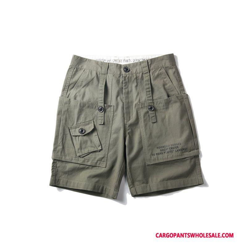 Cargo Shorts Herre Army Grøn Trend Original Sommer Flere Lommer Cargo