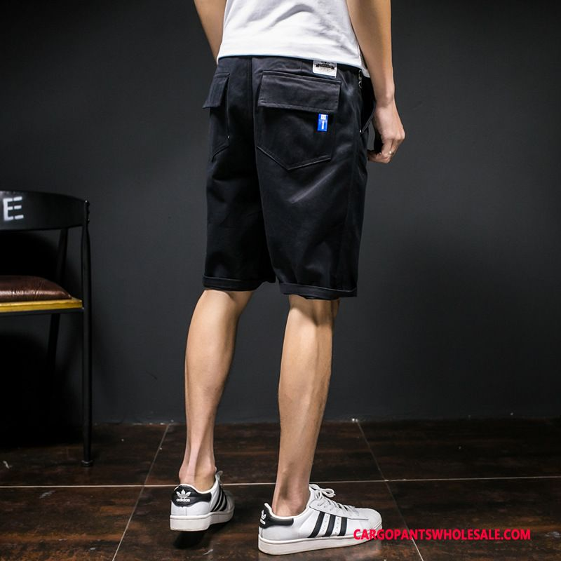 Cargo Shorts Men Black Cargo Pants Large Size Summer The New Leisure
