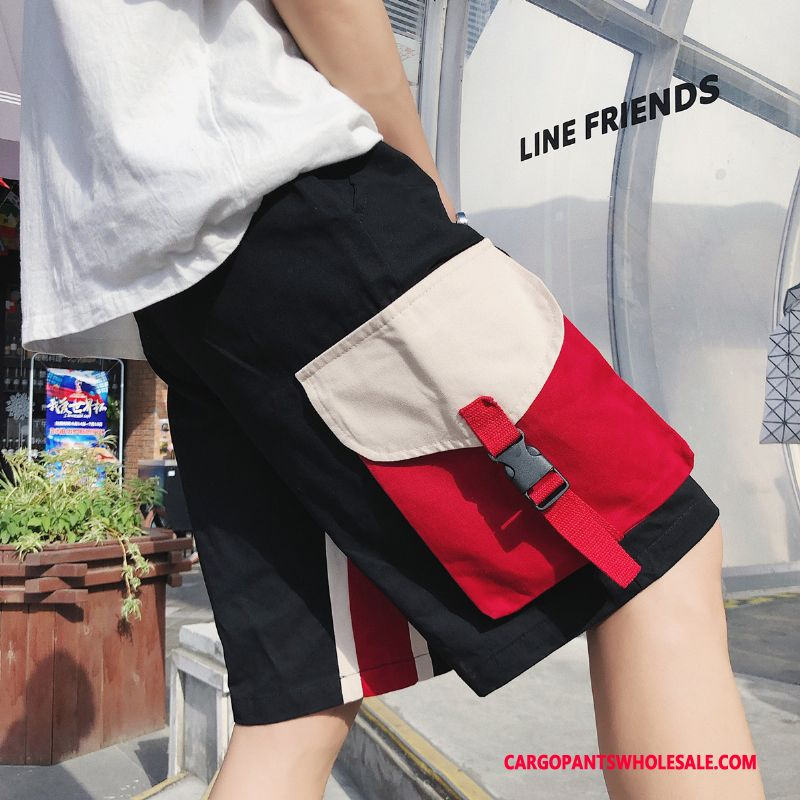 Cargo Shorts Men Black Cargo Personality Summer Shorts Casual Pants