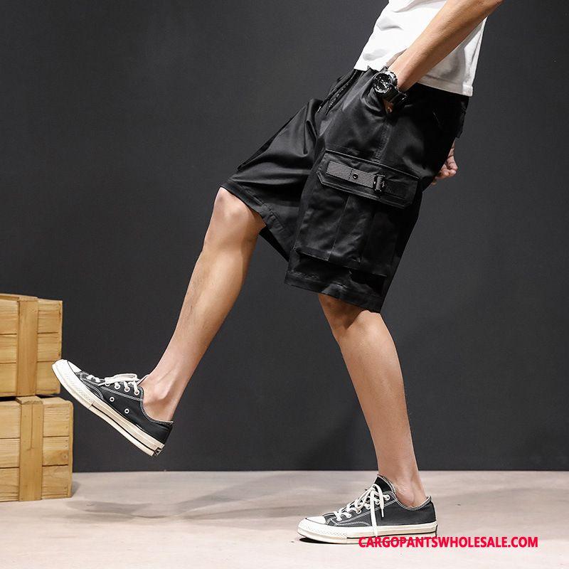 Cargo Shorts Men Black Green Shorts Cargo Plus Size Pants Juvenile