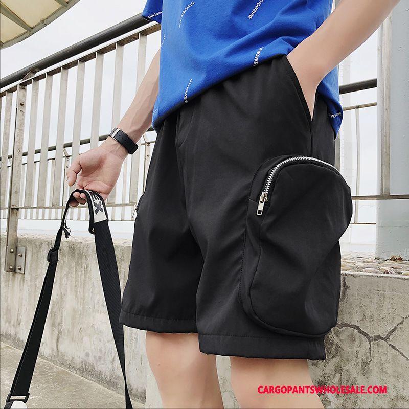Cargo Shorts Men Black Summer Cargo Tide The New Pants