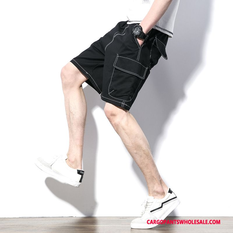 Cargo Shorts Homme Noir Short Pure Été Cargo Grande Taille