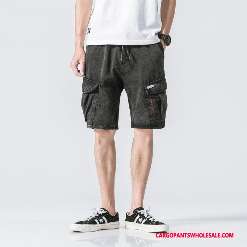 Cargo Shorts Men Black The New Trend Summer Multi-pocket Cargo