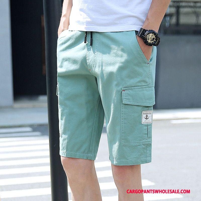 Cargo Shorts Heren Blauw Groen Meer Zakken Cargo Outdoor