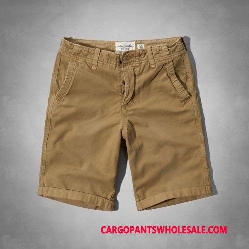 Cargo Shorts Herre Blå Vævet Bomuld Cargo Bukser Bukser Sommer