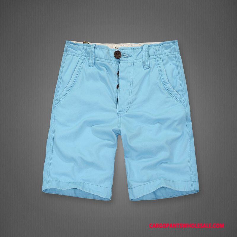Korte Broek Heren Blauw.Cargo Shorts Heren Blauw Korte Broek Wassen Cargo Broek Katoen