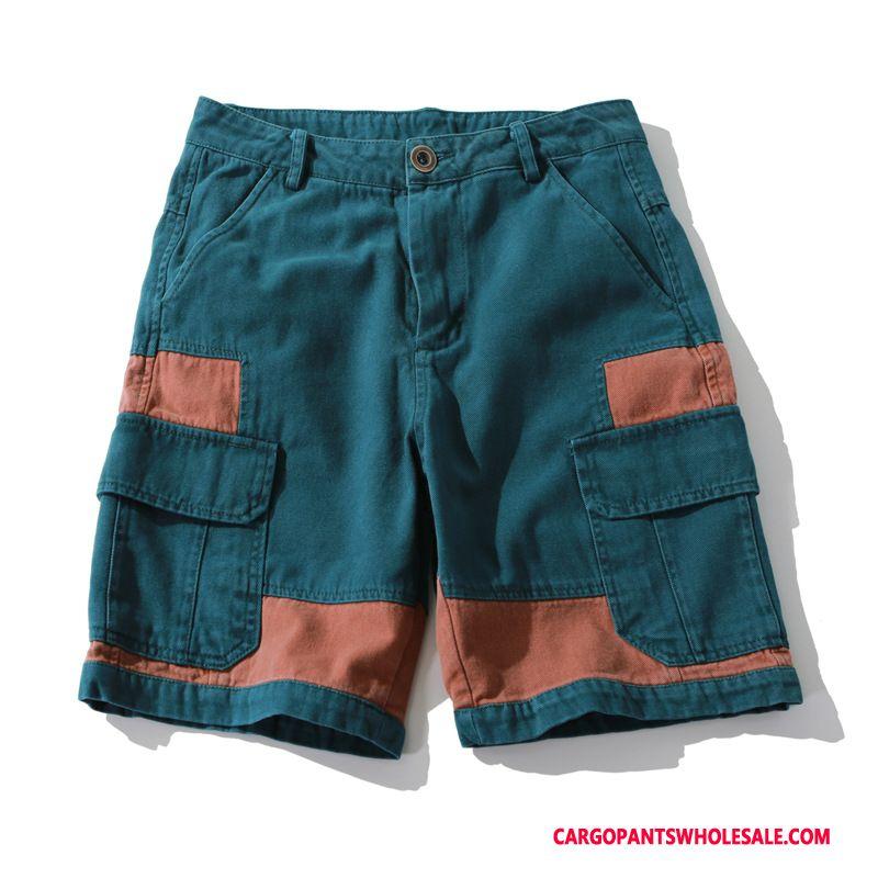 60710343 Cargo Shorts Herre Blå Swag Sommer Vintage Shorts Blandede Farver Online