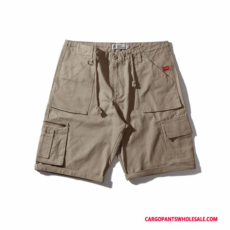 Cargo Shorts Herre Camouflage Army Grøn Cyan Ny Trendy Shorts Brede Flere Lommer