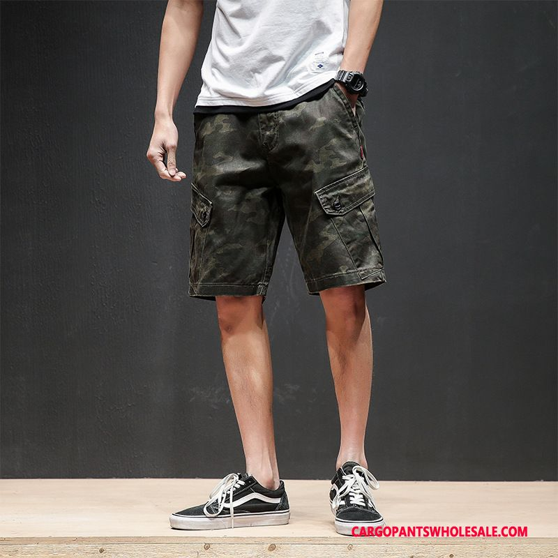 Cargo Shorts Men Camouflage Army Green Pants Trend The New Shorts Casual Pants
