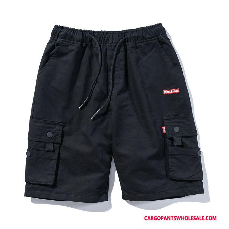Cargo Shorts Men Camouflage Black Tide Hip Hop Shorts Cargo Loose