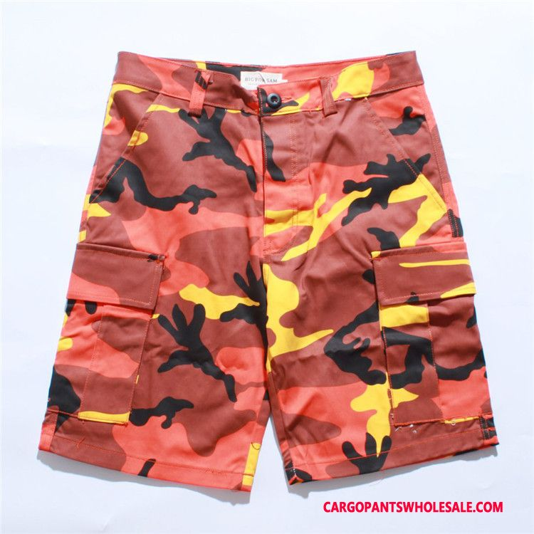 Cargo Shorts Men Camouflage Blue Purple Tide Brand The New Shorts Summer Cargo Pants