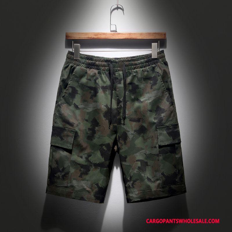 Cargo Shorts Men Camouflage Elastic Force Cargo Leisure The New Shorts
