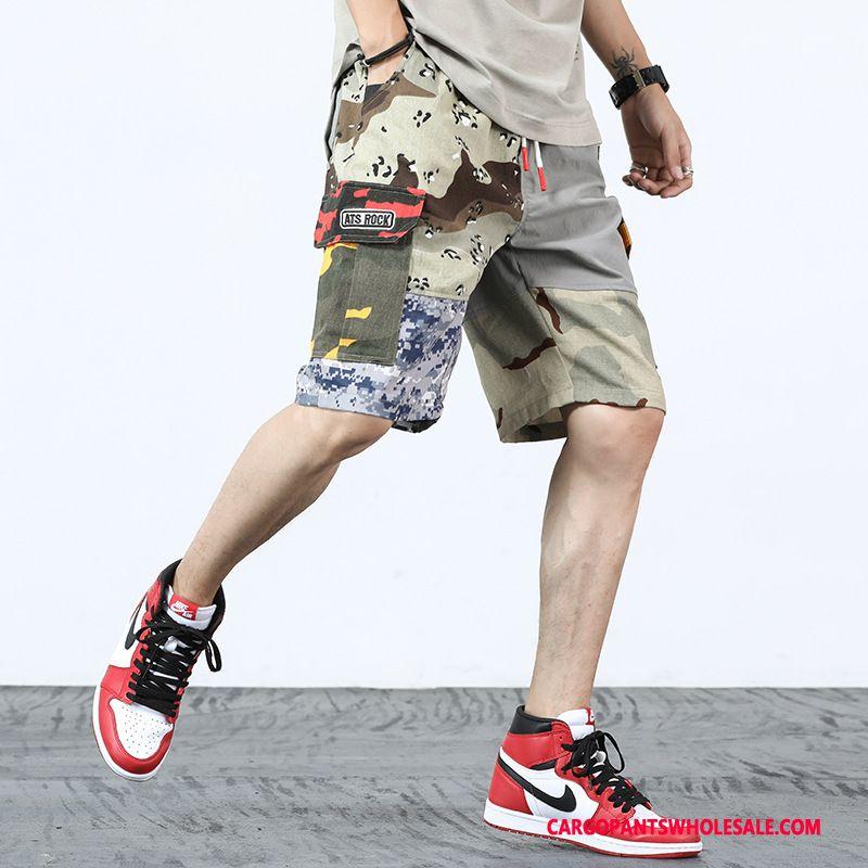 Cargo Shorts Herre Camouflage Grå Ny Super Sweatbukser Cowboybukser Trendy