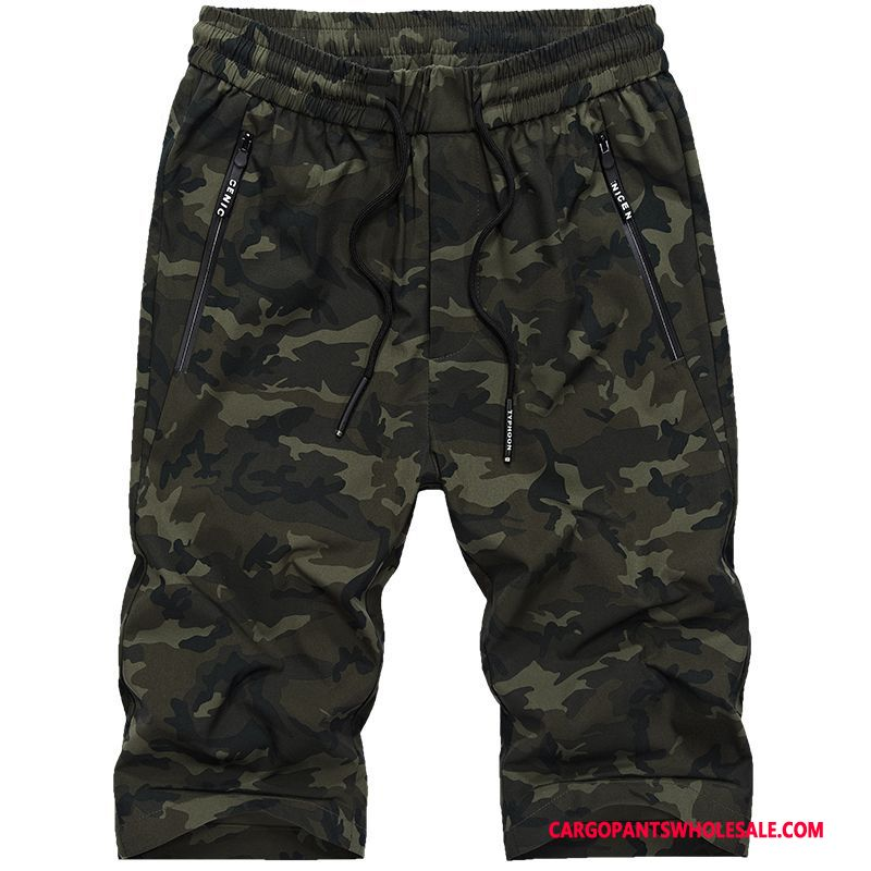 Cargo Shorts Men Camouflage Green Gray Street The New Casual Pants Summer Cargo