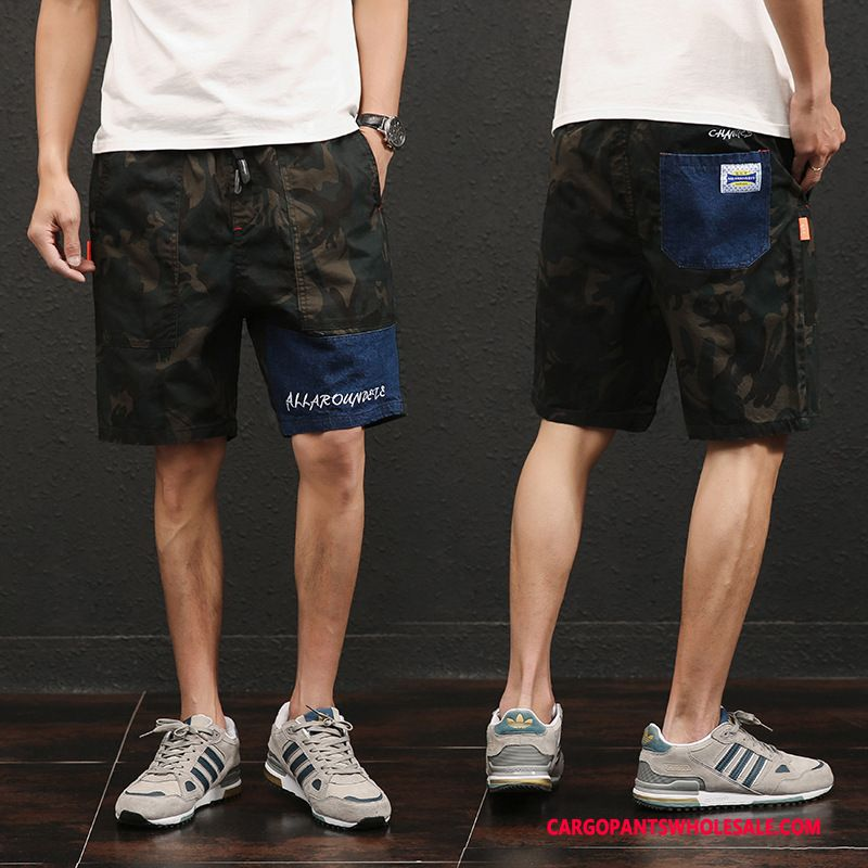 Cargo Shorts Men Camouflage Green Straight The New Pants Cargo Shorts