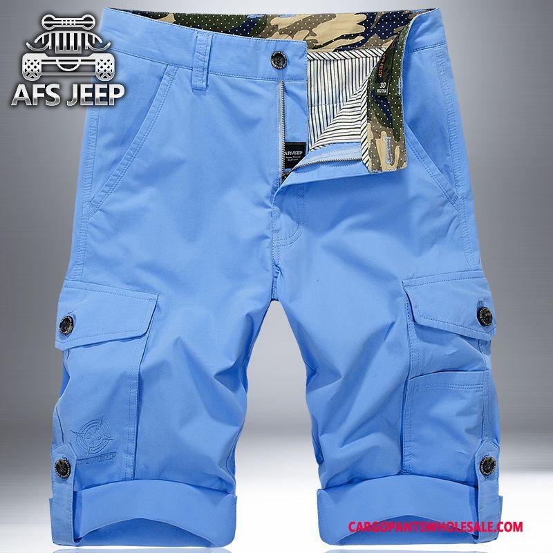 Cargo Shorts Herre Camouflage Khaki Sommer Store Størrelser Cargo Shorts Trend