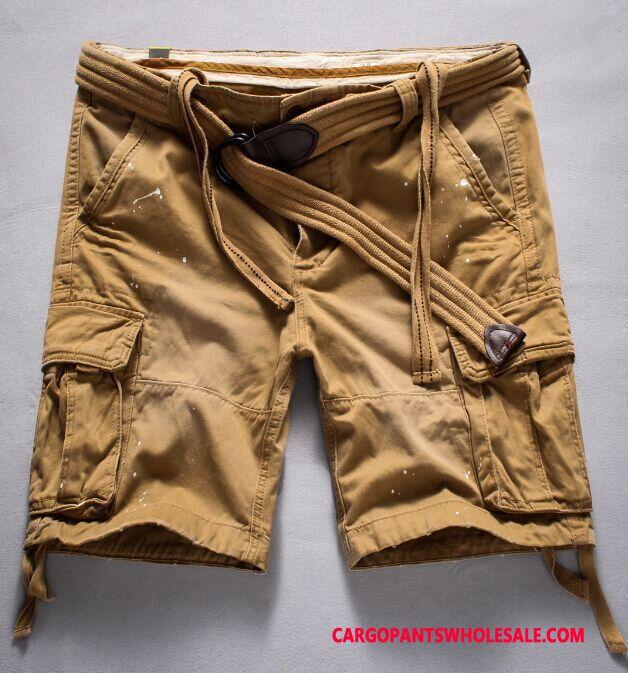 Cargo Shorts Herre Camouflage Khaki Dyb Farve Bomuld Sommer Store Størrelser Cargo Europa