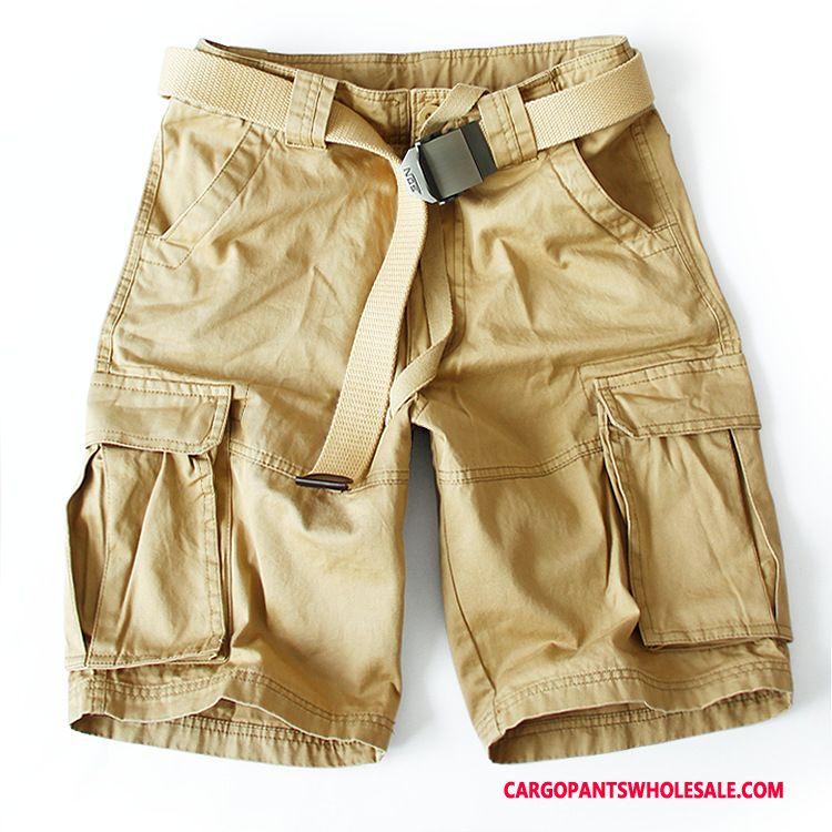 Cargo Shorts Herre Camouflage Khaki Strand Flere Lommer Fritids Bukser Cargo