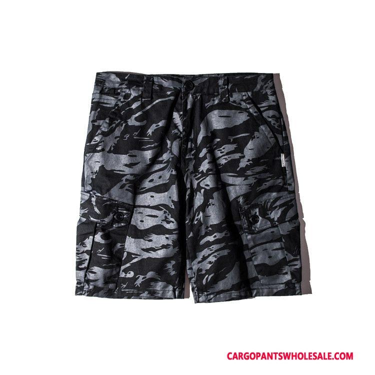 Cargo Shorts Herre Camouflage Lyse Grøn Shorts Sommer Cargo Bukser Salg Vask