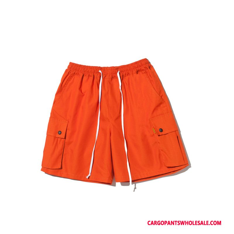 Cargo Shorts Homme Camouflage Rouge Vintage Casual Baggy Plage Short