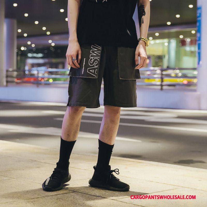 Cargo Shorts Men Gray Printing The New Summer Pants Straight
