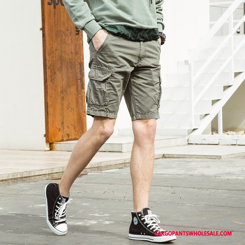 Cargo Shorts Men Gray Shorts Cargo Pants Casual Pants Europe Summer