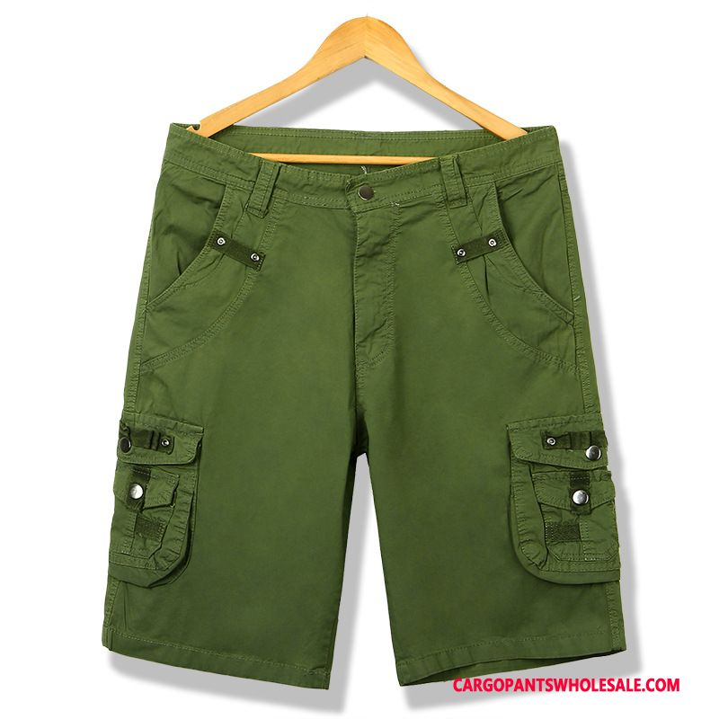 Cargo Shorts Men Green Breathable Summer Fashion Shorts Customized