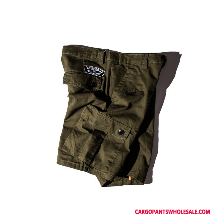 Cargo Shorts Men Green Casual Pants Multi-pocket Summer Shorts Large Size