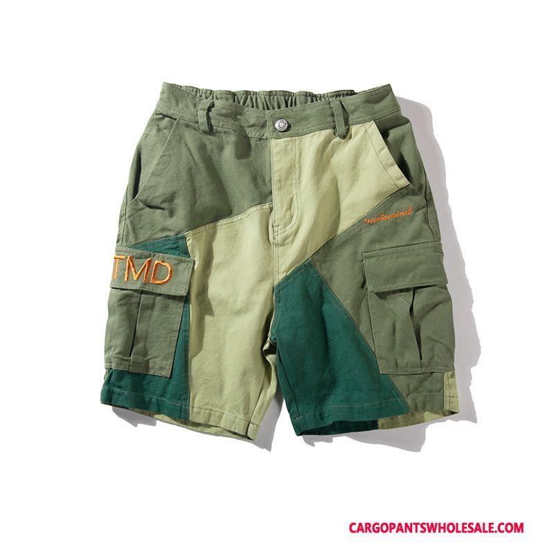 Cargo Shorts Herre Grøn Casual Bukser Shorts Cargo Sommer Trendy