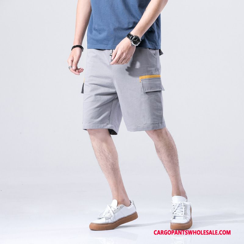 Cargo Shorts Men Green Gray Loose Pants The New Casual Pants Cargo Pants