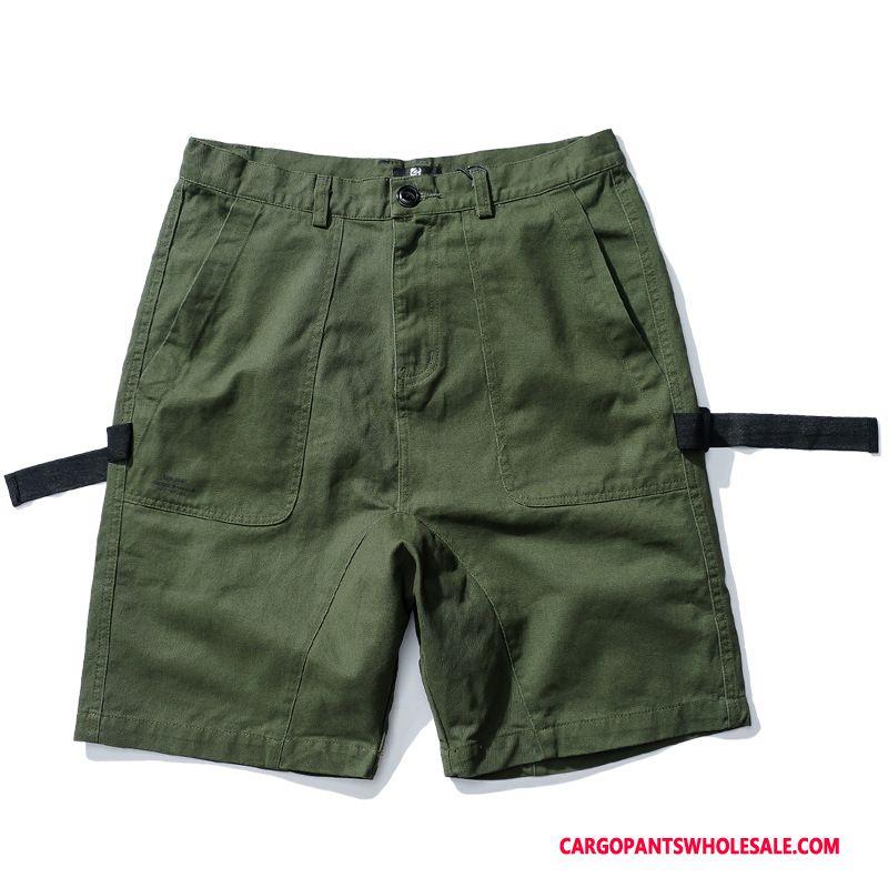 Cargo Shorts Herre Grøn Trendy Tynd Sommer Swag Shorts