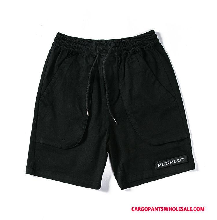 Cargo Shorts Men Khaki Cargo Pants High Leisure Shorts Multiple Pockets