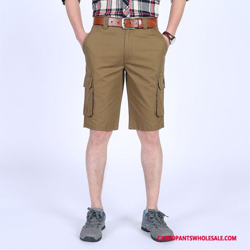 Cargo Shorts Herre Khaki Store Størrelser Trendy Shorts Flere Lommer Brede